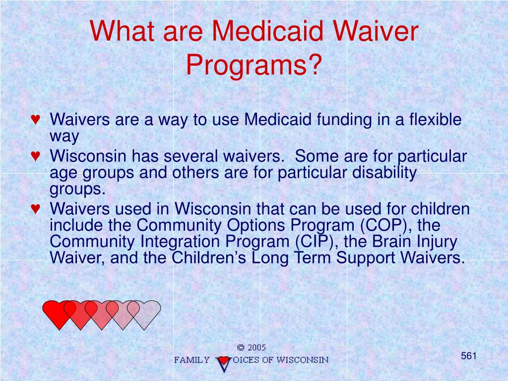 What are Medicaid Waiver Programs?