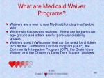 what are medicaid waiver programs