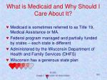 what is medicaid and why should i care about it
