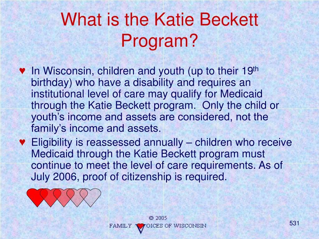 What is the Katie Beckett Program?