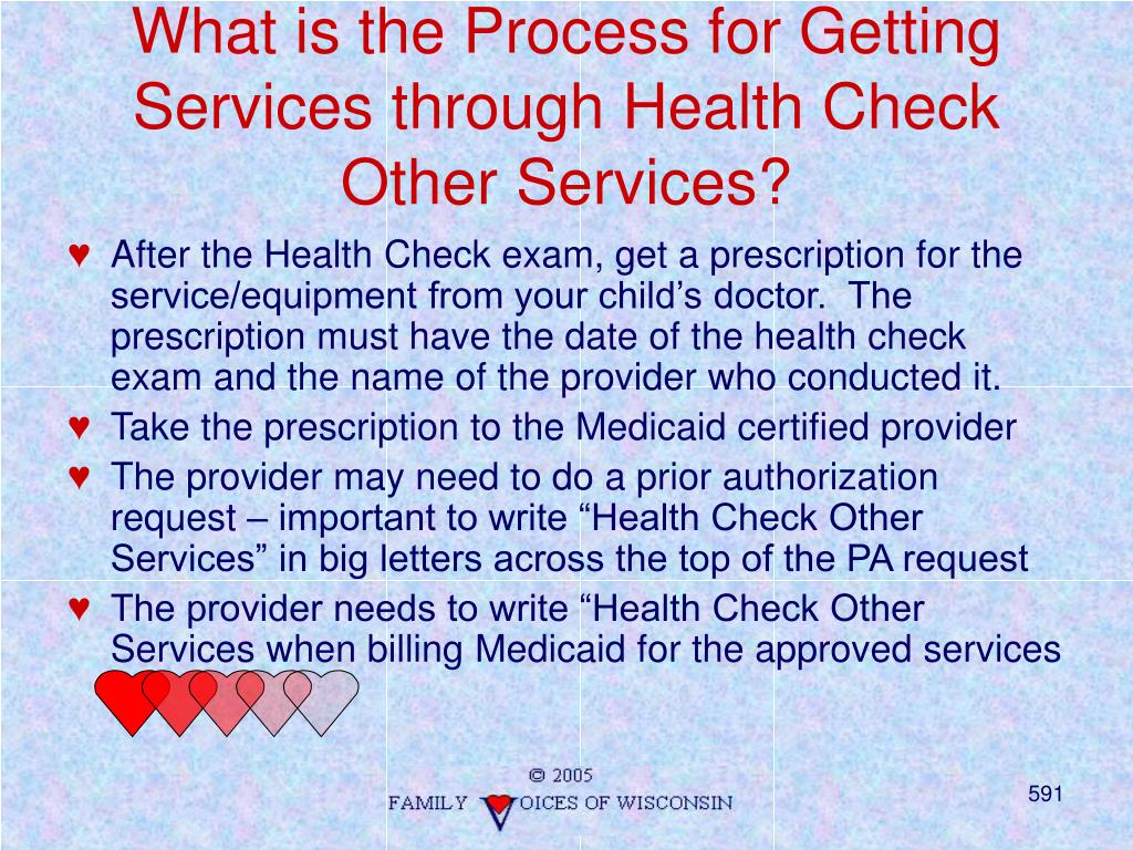 What is the Process for Getting Services through Health Check Other Services?