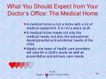 what you should expect from your doctor s office the medical home