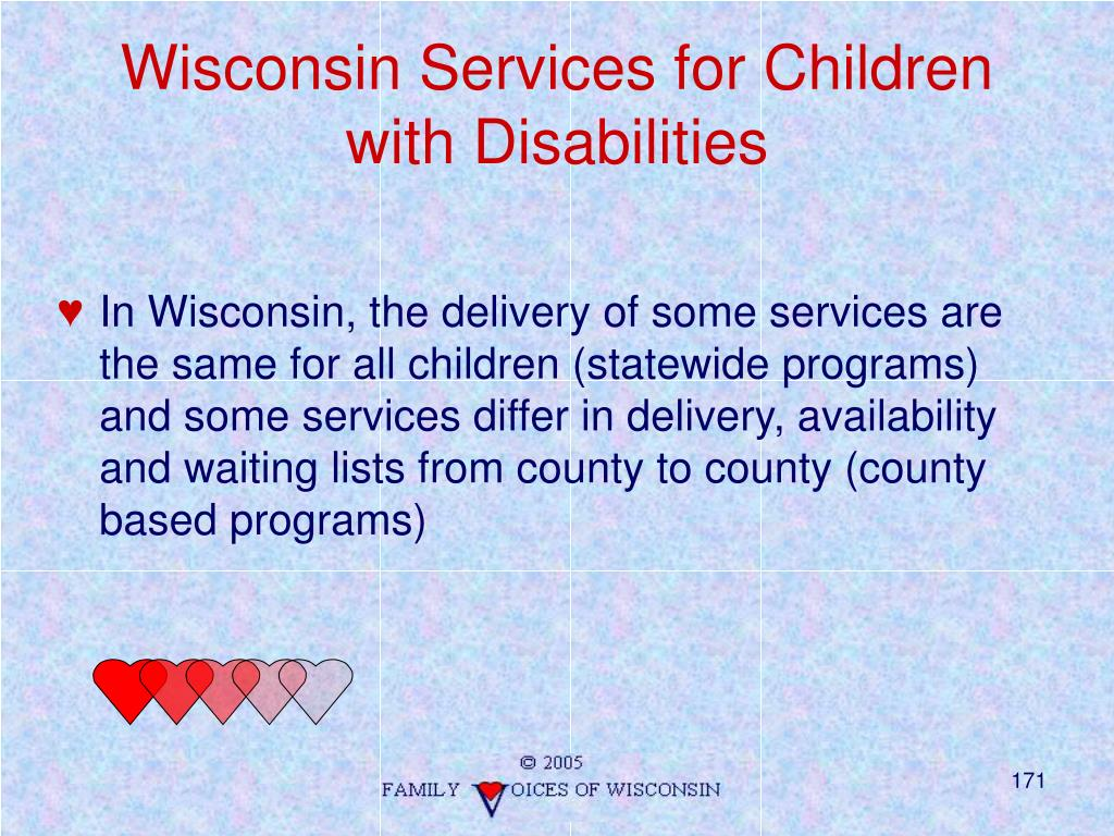 Wisconsin Services for Children with Disabilities