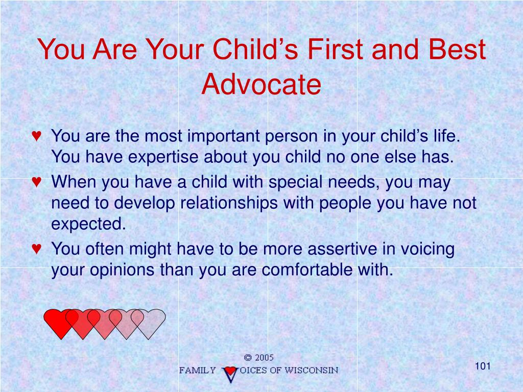 You Are Your Child's First and Best Advocate