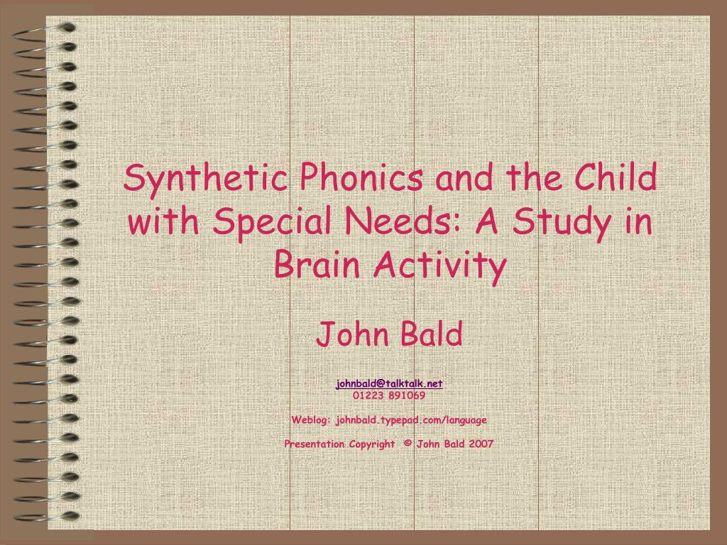 synthetic phonics and the child with special needs a study in brain activity l.