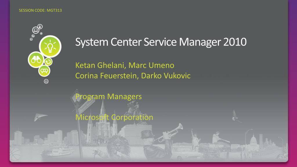 system center service manager 2010 l.