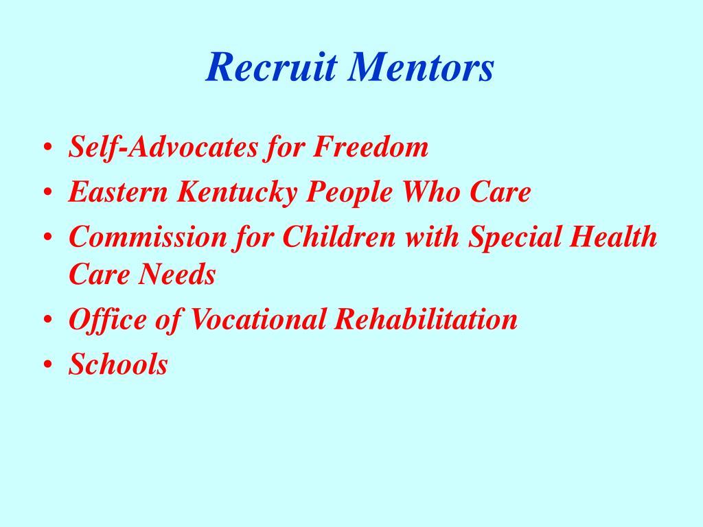 Recruit Mentors