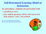 self determined learning model of instruction27