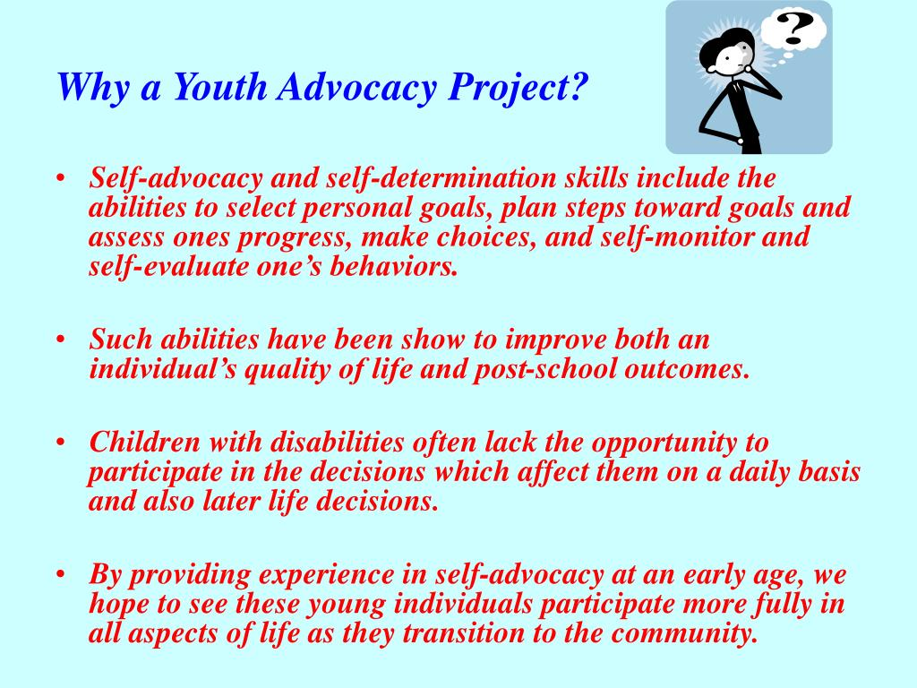 Why a Youth Advocacy Project?