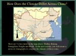 how does the climate differ across china