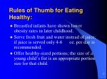 rules of thumb for eating healthy