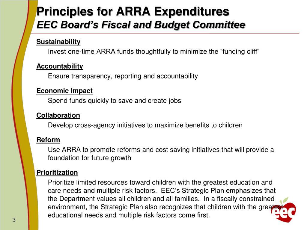 Principles for ARRA Expenditures