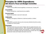 principles for arra expenditures eec board s fiscal and budget committee