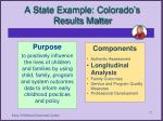 a state example colorado s results matter