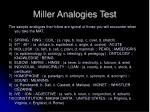 miller analogies test