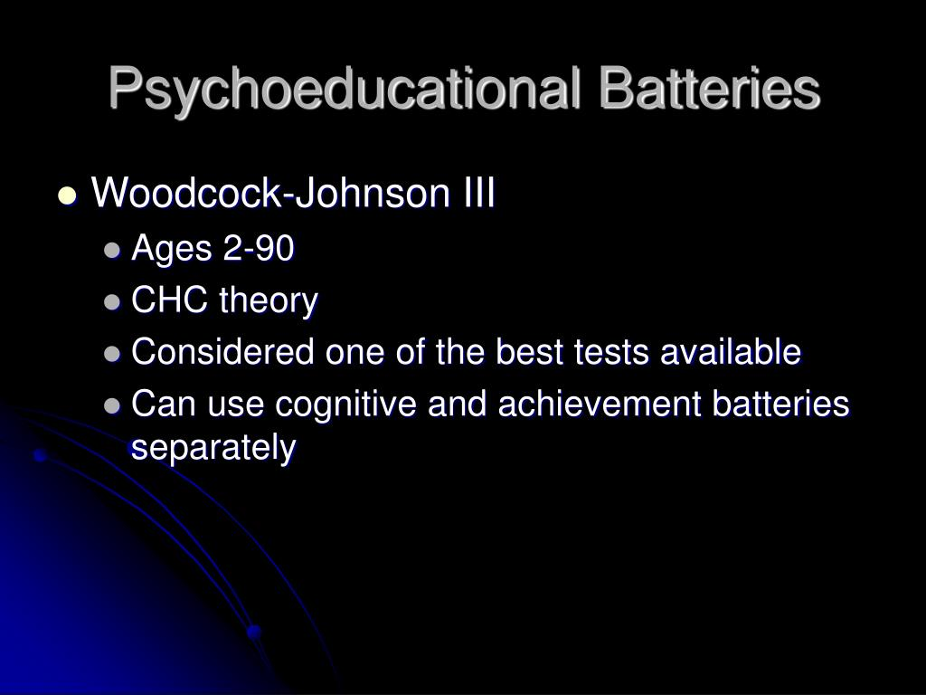 Psychoeducational Batteries