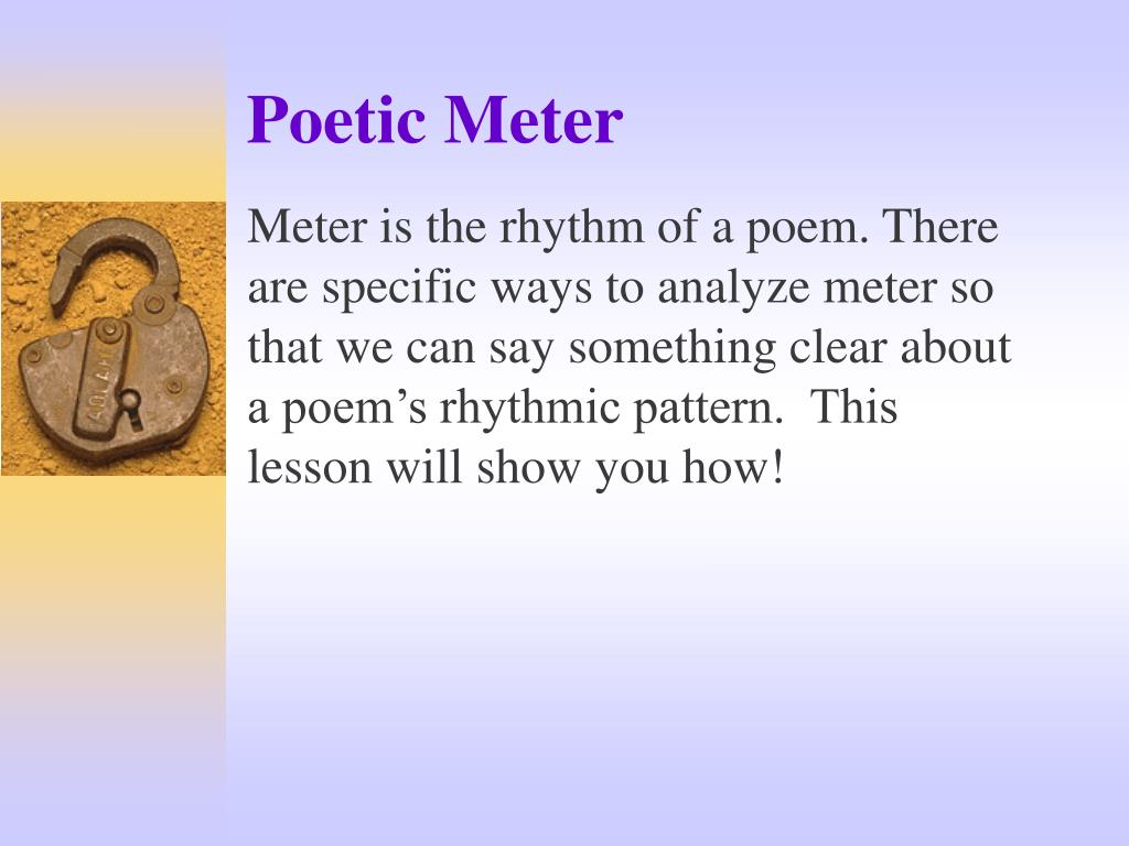 an overview of the concept of rhythm and the ways in affects poetry Certain forms of poetry tend to be very popular, like the sonnet, ode, ballad and elegy they often have specific structural characteristics, like the type of stanza and number of lines, and/or a certain style.