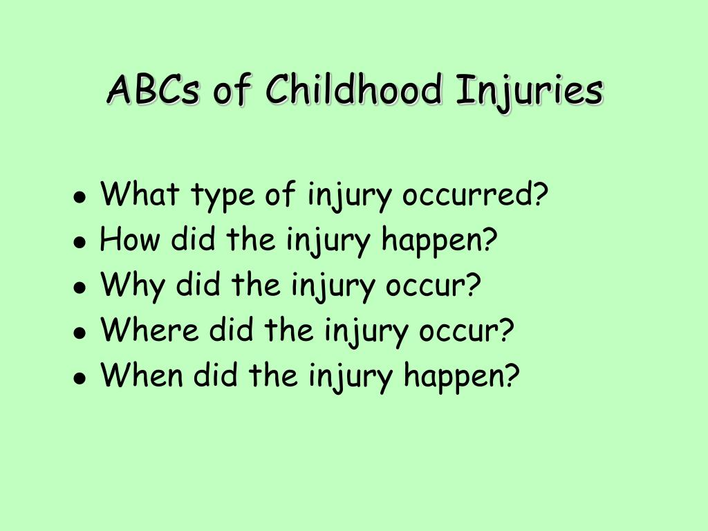 What type of injury occurred?