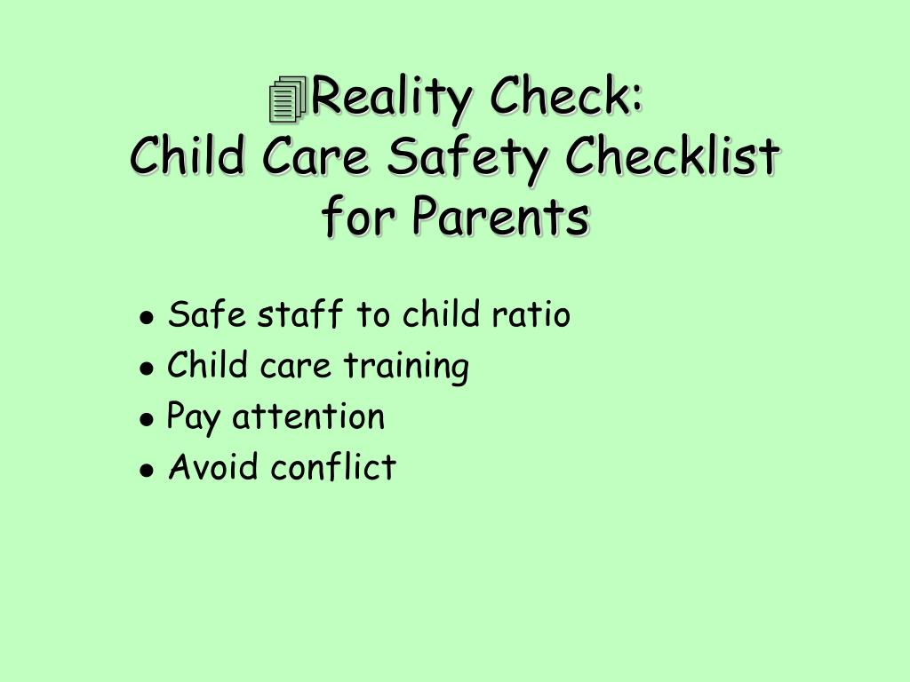 Safe staff to child ratio