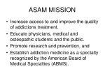 asam mission
