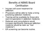 benefits of abms board certification