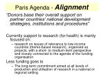 paris agenda alignment