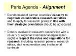 paris agenda alignment21