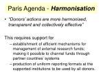 paris agenda harmonisation