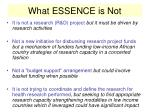what essence is not