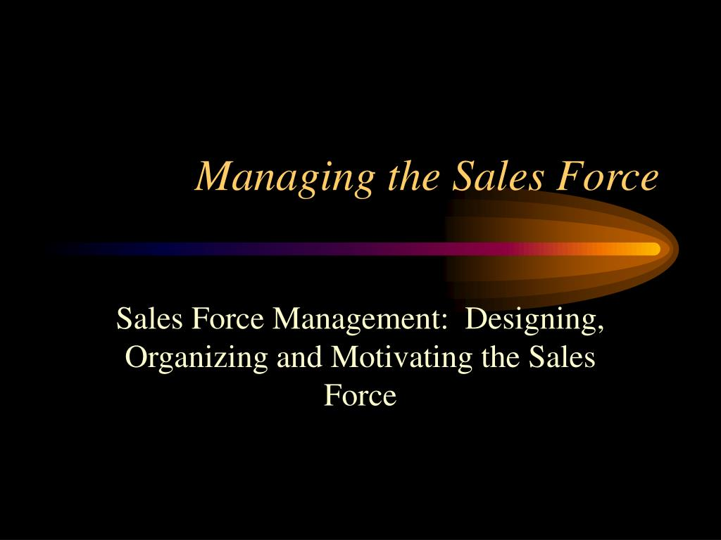 managing the sales force l.