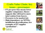 crafts value chain key issues governance