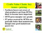 crafts value chain key issues pricing