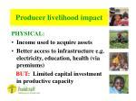 producer livelihood impact23