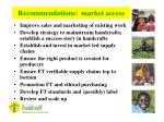 recommendations market access