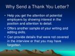 why send a thank you letter