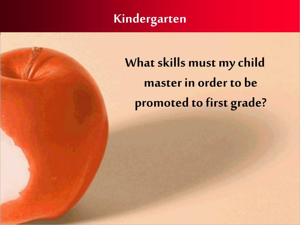 kindergarten l.