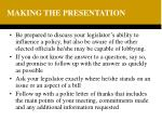 making the presentation19