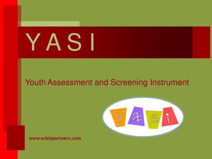 y a s i youth assessment and screening instrument n.
