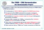the frbr crm harmonization the harmonization project