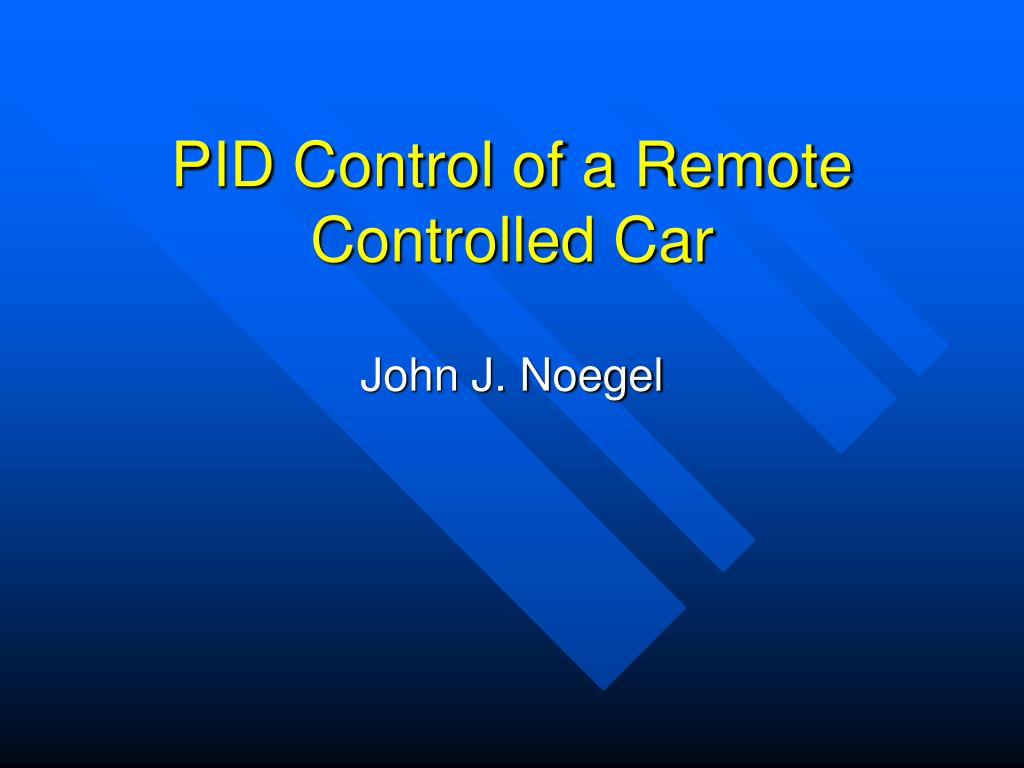 pid control of a remote controlled car l.