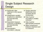 single subject research design
