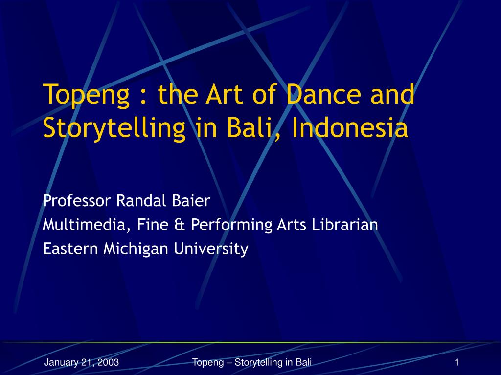 professor randal baier multimedia fine performing arts librarian eastern michigan university l.