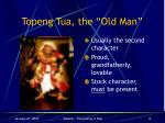 topeng tua the old man