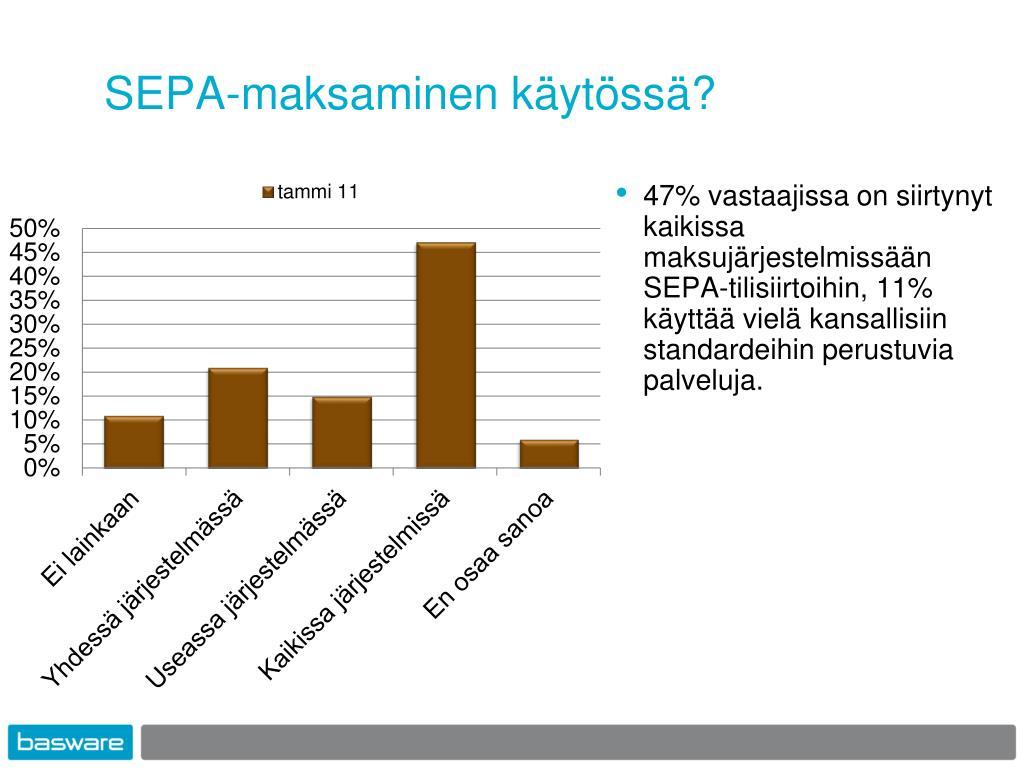 SEPA-maksaminen