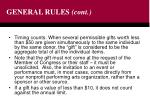 general rules cont