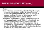 tours of a facility cont24