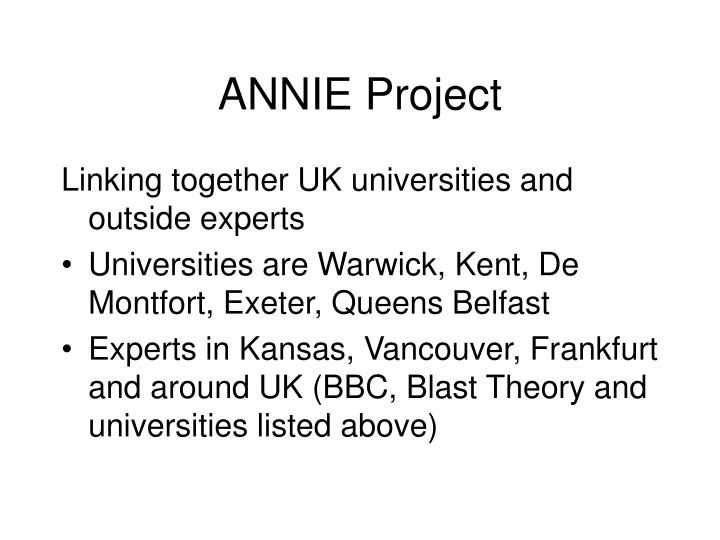 Annie project