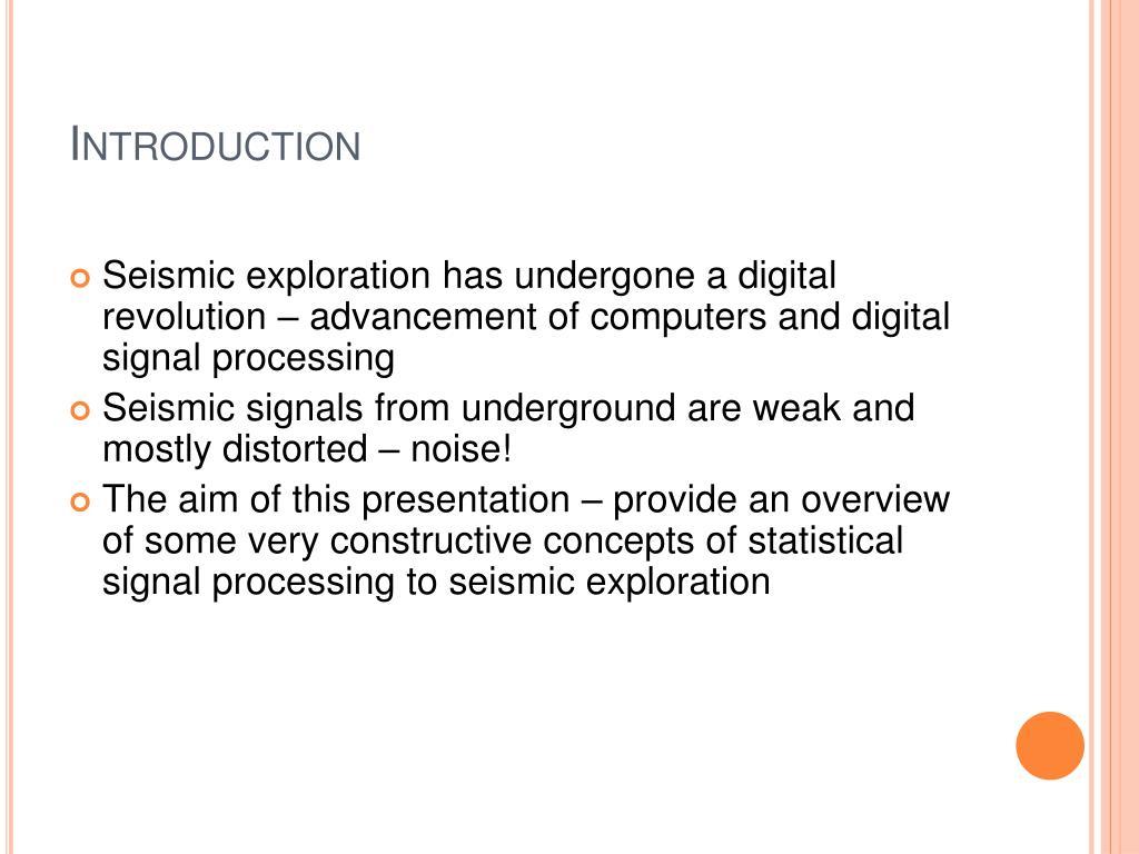 PPT - Random Noise in Seismic Data: Types, Origins