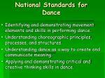 national standards for dance