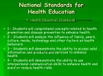national standards for health education